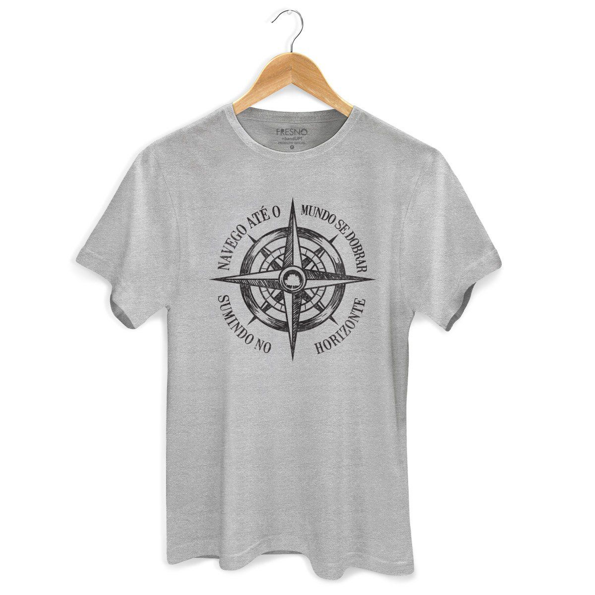 Camiseta Masculina Fresno - Navego Até o Mundo se Dobrar