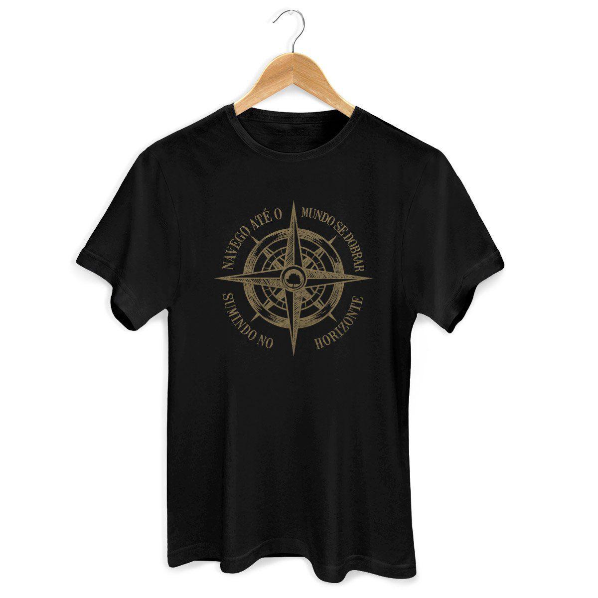 Camiseta Masculina Fresno - Navego Até o Mundo se Dobrar 2
