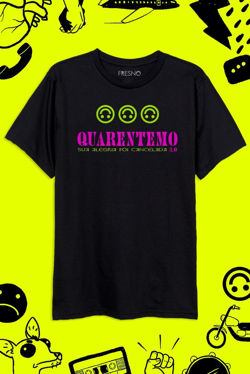 Camiseta Masculina Fresno QuarentEMO 3.0 Logo Smile