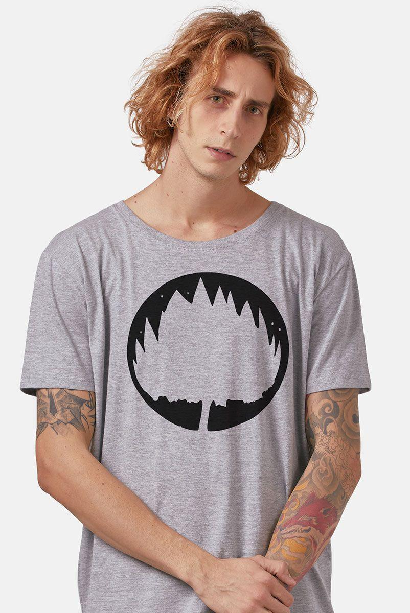 Camiseta Masculina Mescla Fresno Sua Alegria Foi Cancelada Logo