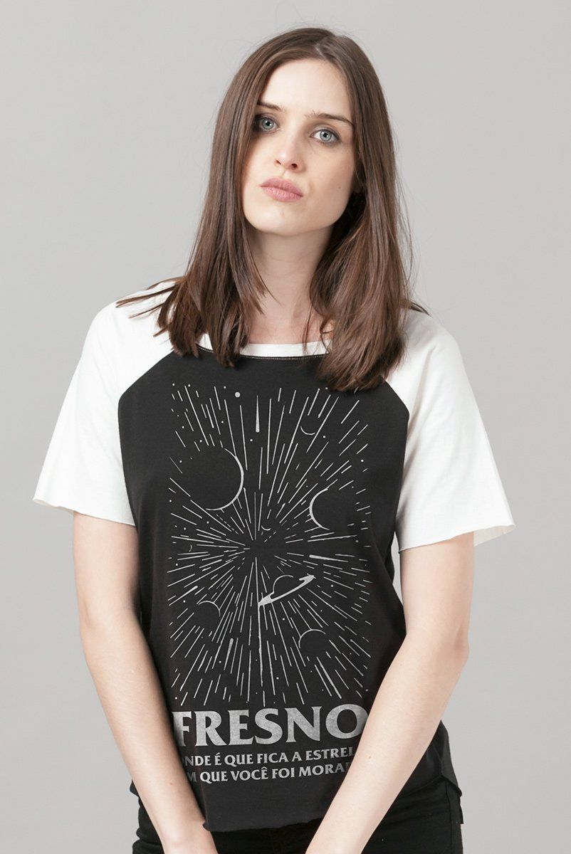 Camiseta Raglan Feminina Fresno Onde Fica a Estrela