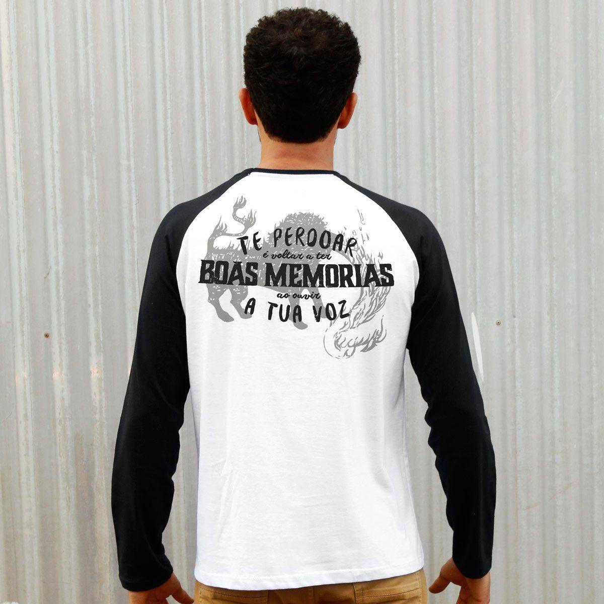 Camiseta Manga Longa Masculina Fresno Boas Memórias