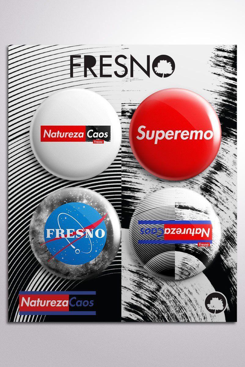Cartela de Buttons Fresno Natureza Caos