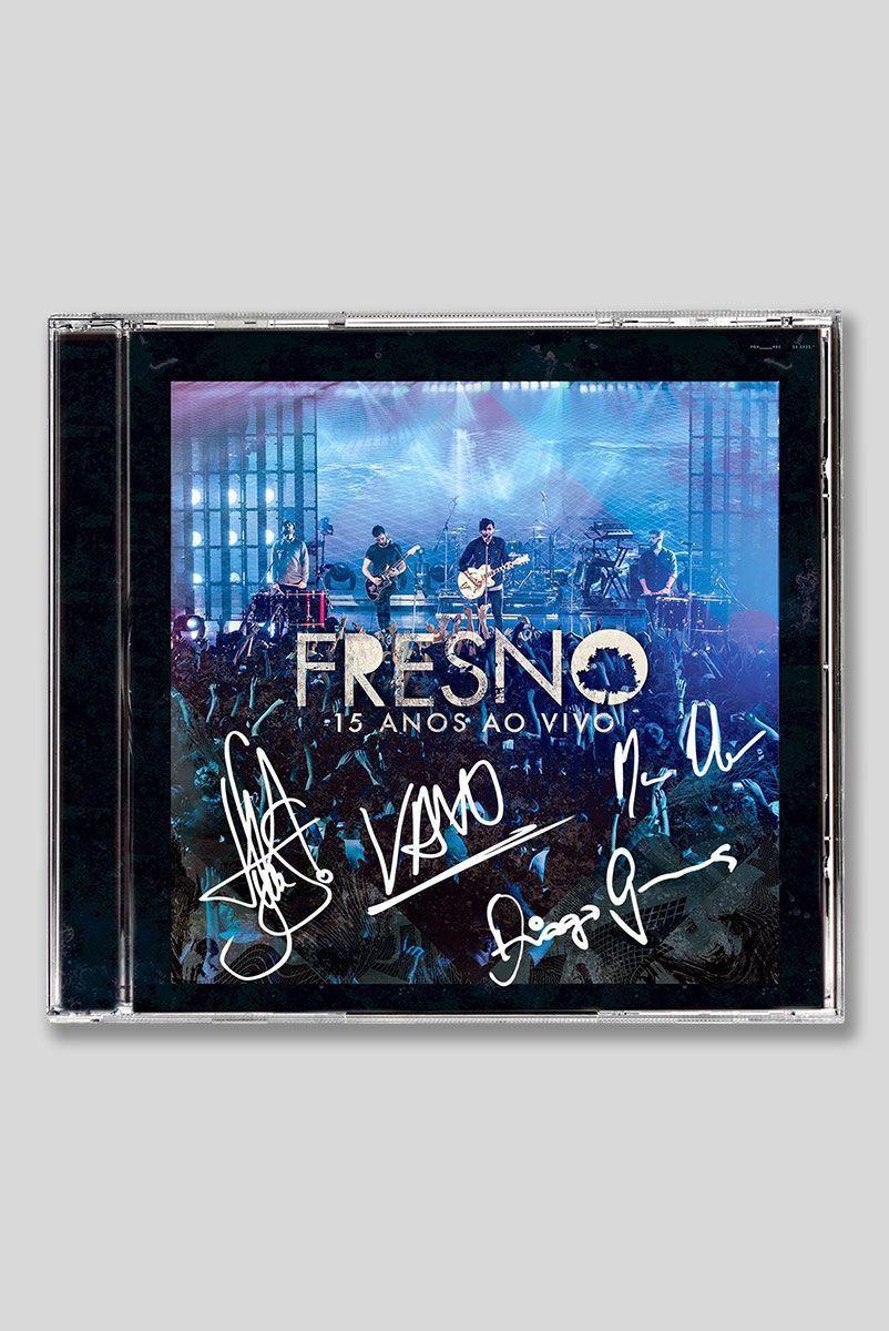 CD Fresno 15 Anos ao vivo Autografado