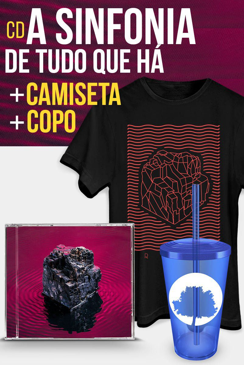 Combo Fresno CD A Sinfonia de Tudo Que Há + Camiseta + Copo