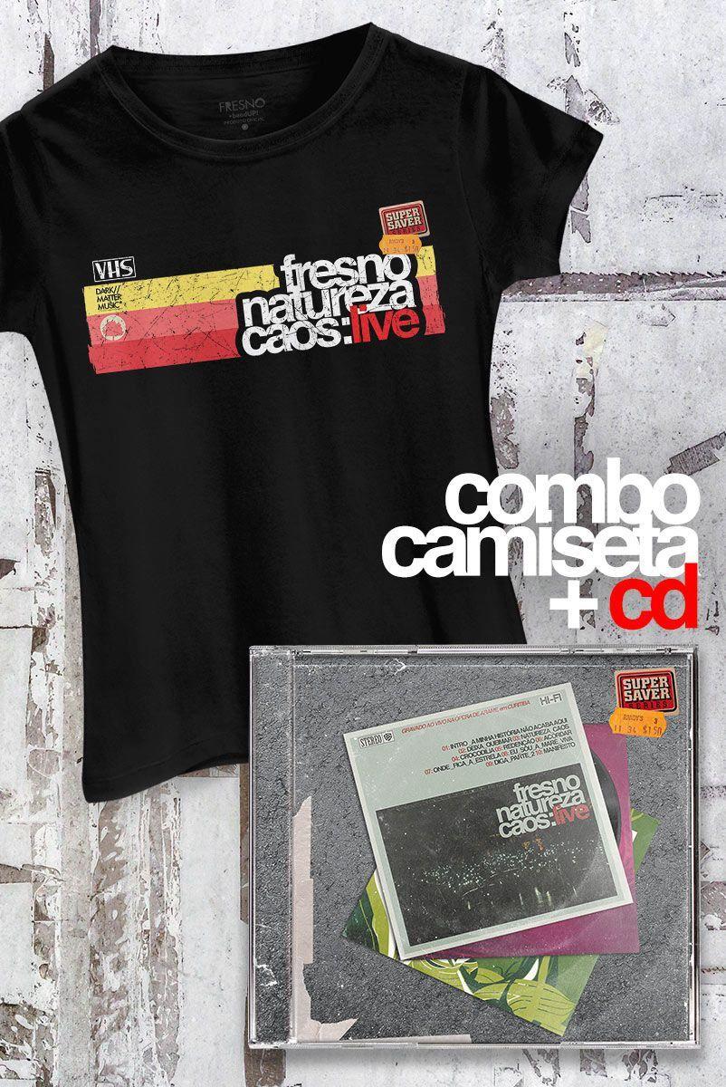 Combo Fresno CD Natureza Caos: Live + Camiseta Feminina