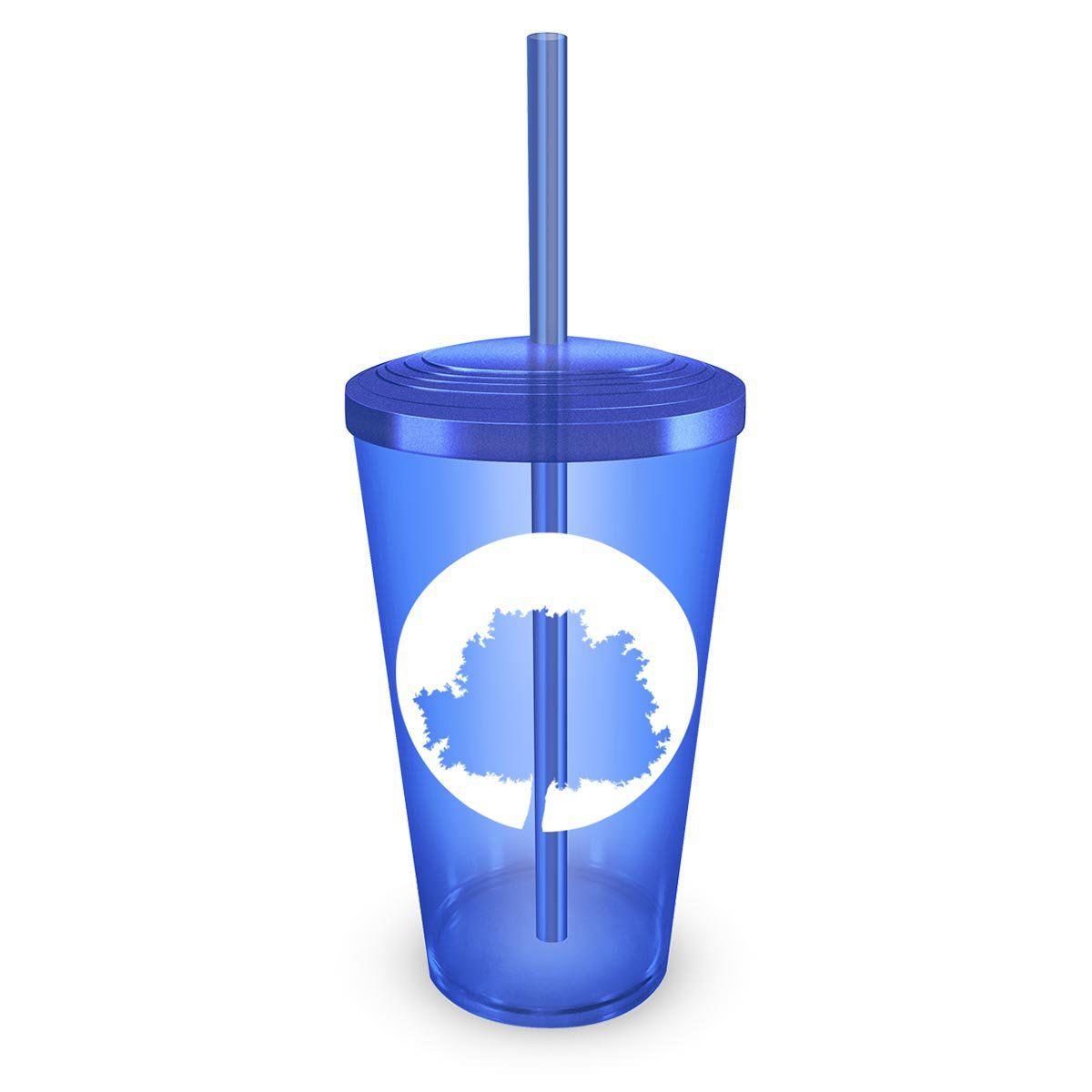 Copo Acrílico Azul Fresno Logo Árvore