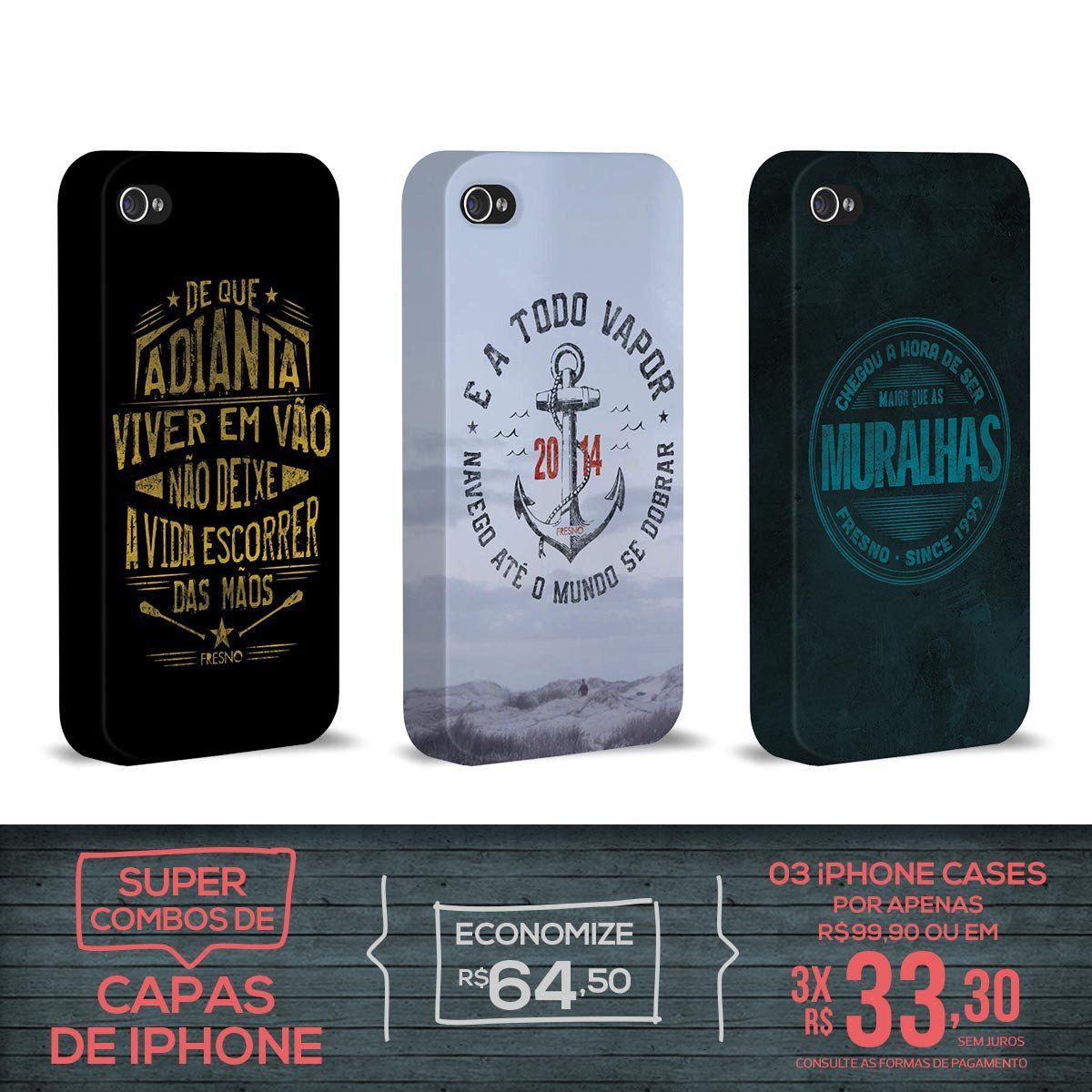 Kit Com 3 Capas de iPhone 4/4S Fresno - Farol