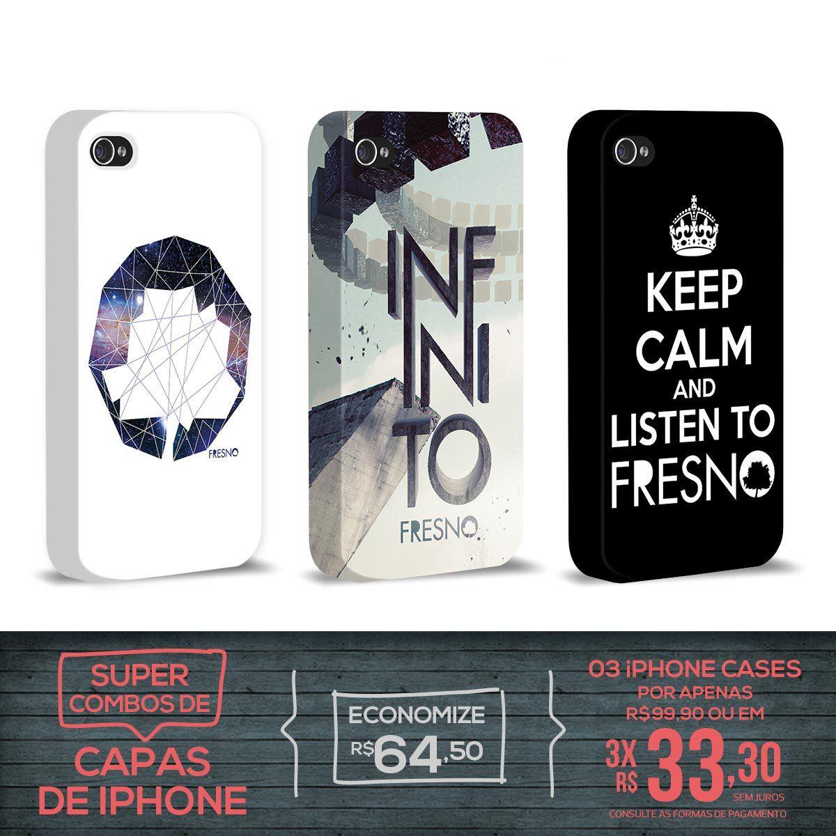 Kit Com 3 Capas de iPhone 4/4S Fresno - Galáxias