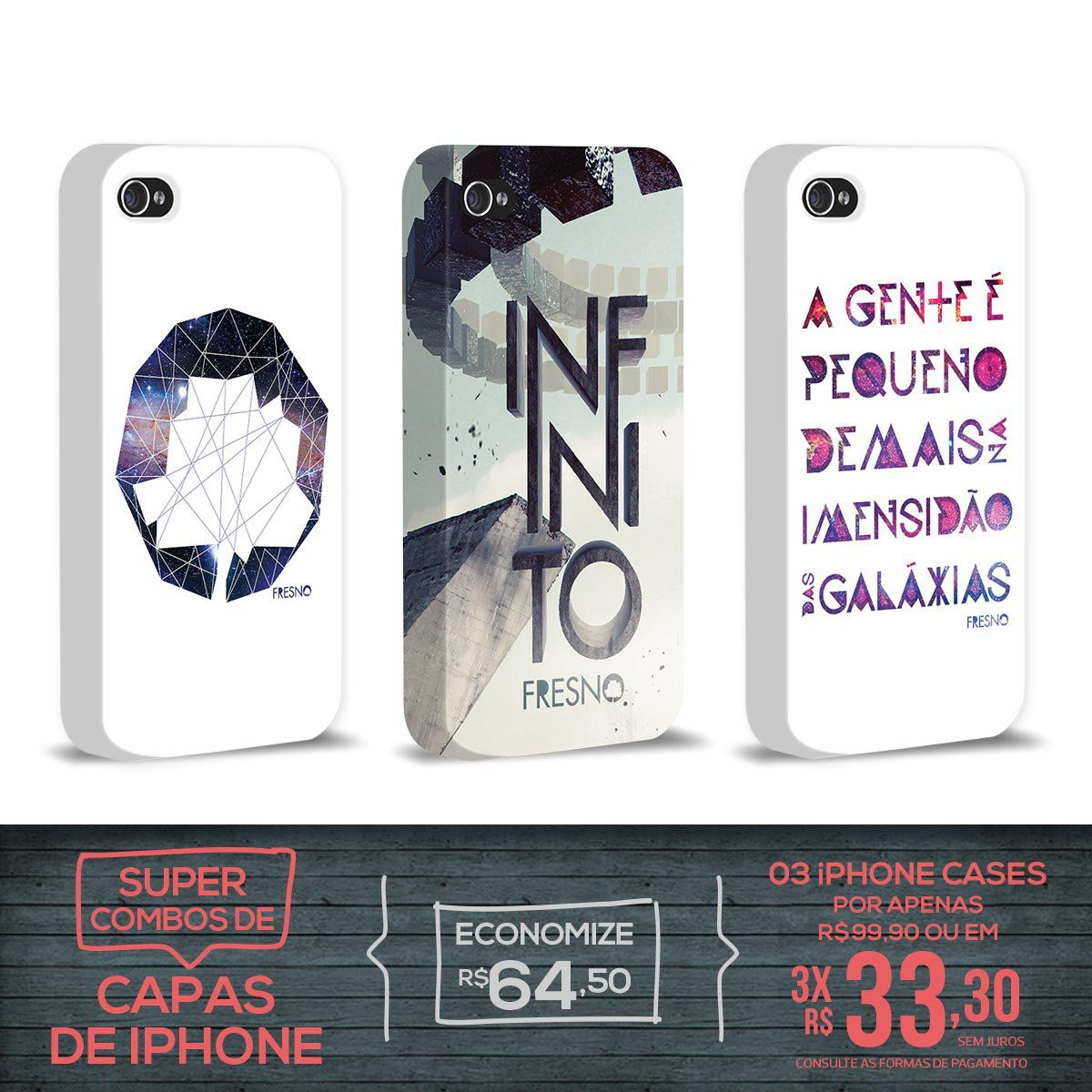 Kit Com 3 Capas de iPhone 4/4S Fresno - Infinito