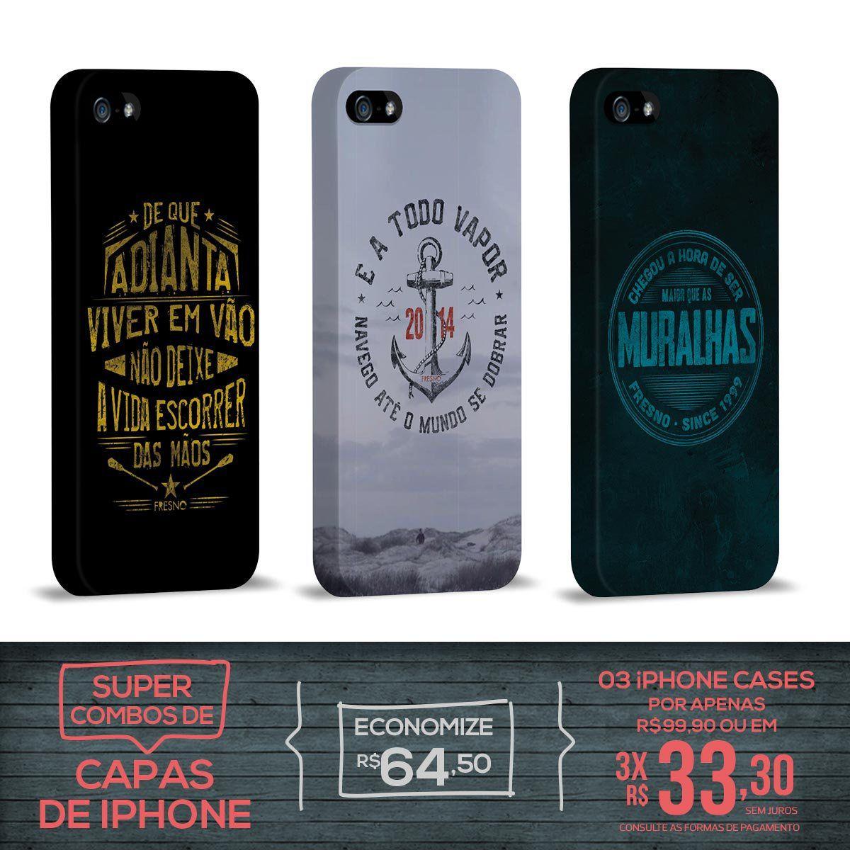Kit Com 3 Capas de iPhone 5/5S Fresno - Farol
