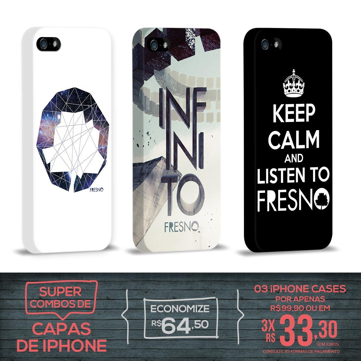Kit Com 3 Capas de iPhone 5/5S Fresno - Infinito