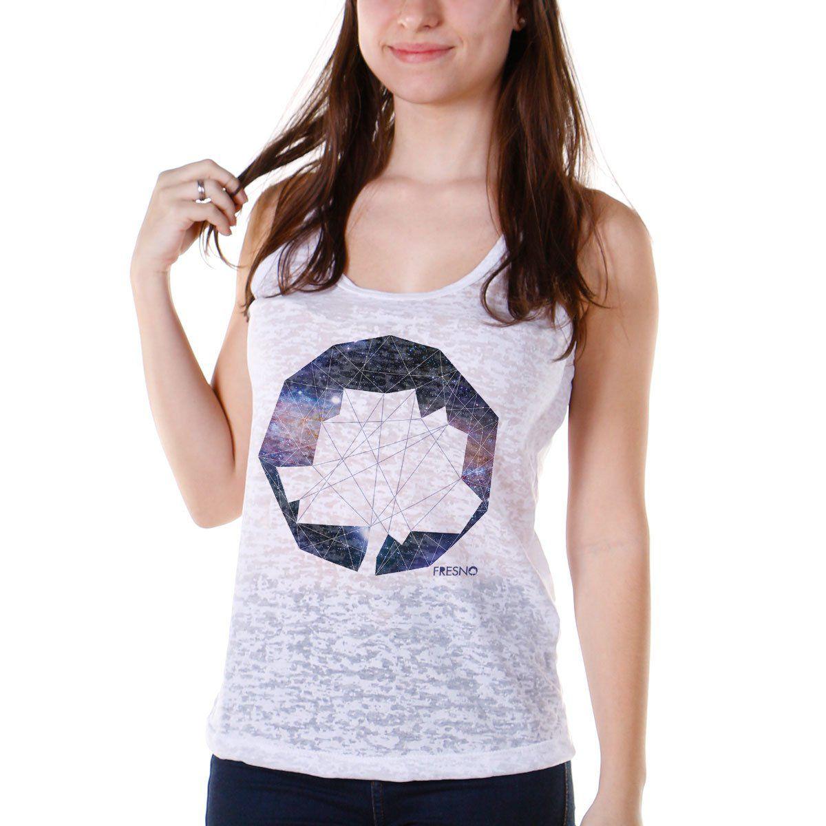 Regata Nadador Feminina Fresno Logo Galáxias