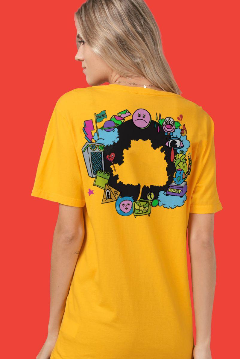 T-shirt Feminina Fresno Festival de Música Logo Árvore
