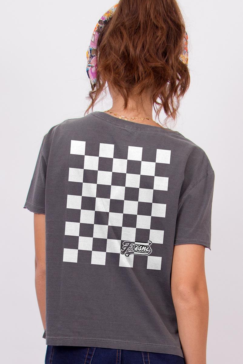 Camiseta Box Feminina Fresno Quadriculado