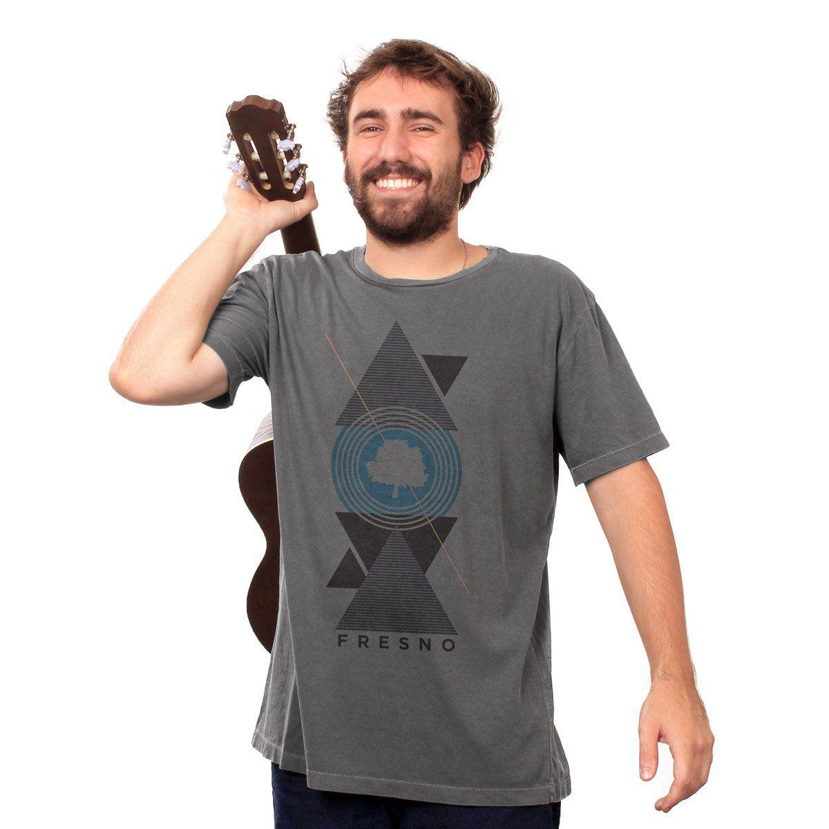 T-shirt Premium Masculina Fresno Geometric
