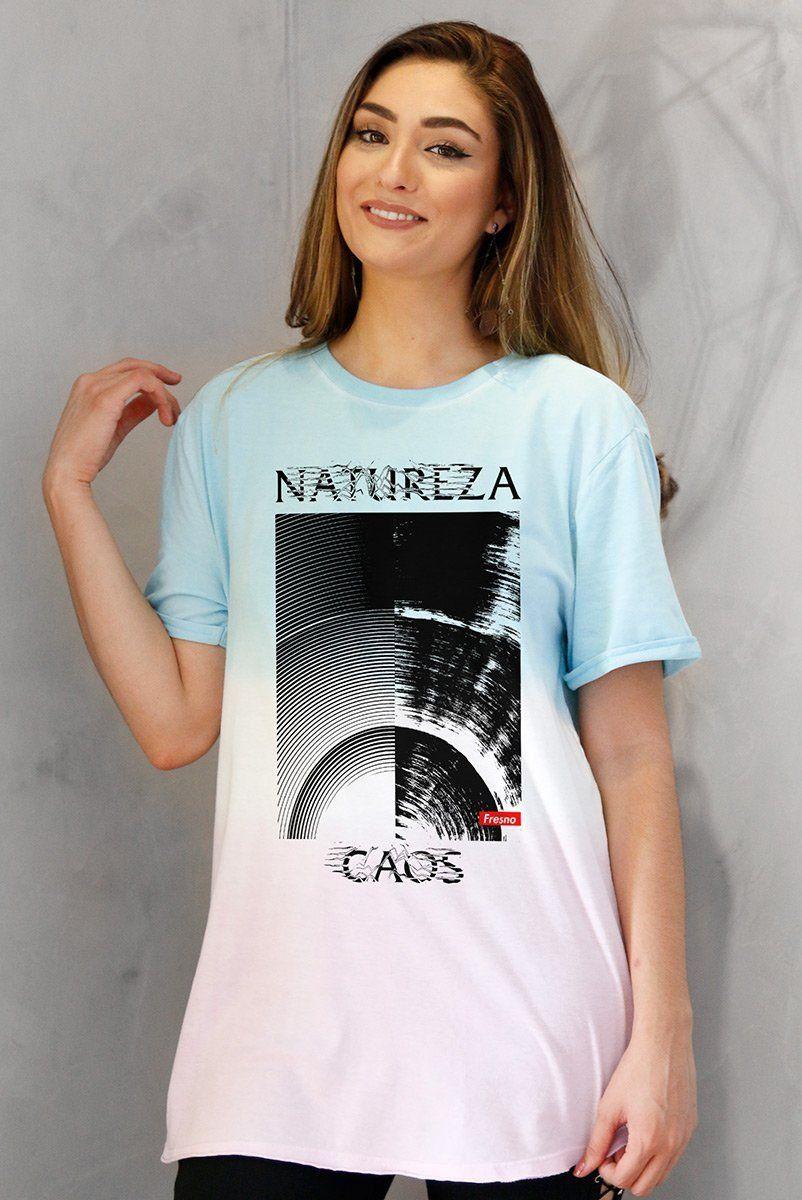 T-Shirt Tie Dye Feminina Fresno Natureza Caos