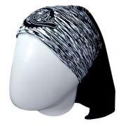 BANDANA MUHU SOLID COLOR BLACK WHITE