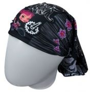 BANDANA MUHU TATOO FEME BLACK