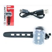 FAROL TRASEIRO OU DIANTEIRO ABSOLUTE PRETO JY-7050 - CARREGA VIA USB - ISP
