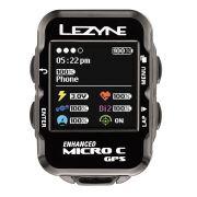 GPS LEZYNE MICRO C COLORIDO CICLOCOMPUTADOR V104 PRETO