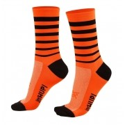 MEIA HUPI CICLISTA COLORFUL COLLECTION LARANJA 495-11