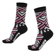MEIA HUPI CICLISTA COLORFUL COLLECTION PRETA E ROSA DNA 495-106