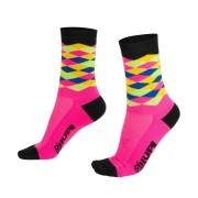 MEIA HUPI CICLISTA COLORFUL COLLECTION ROSA XADRES 495-32