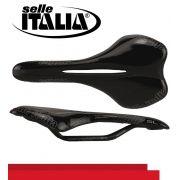 SELIM SELLE ITALIA SL ML XC FLOW PRETO FOSCO TRILHO MAGNESIO 229G.