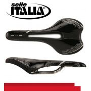SELIM SELLE ITALIA SLR ML XC 2 FLOW CARBONO TRILHO TITANIO PRETO 176G.