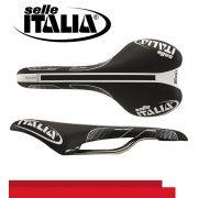 SELIM SELLE ITALIA SLR TEAM EDITION MONOLINK X-40 CARBONO TRILHO TITANIO PRETO 170G.