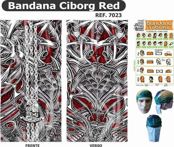 BANDANA MUHU CIBORG RED