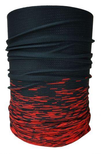 BANDANA MUHU SOLID COLOR BLACK RED