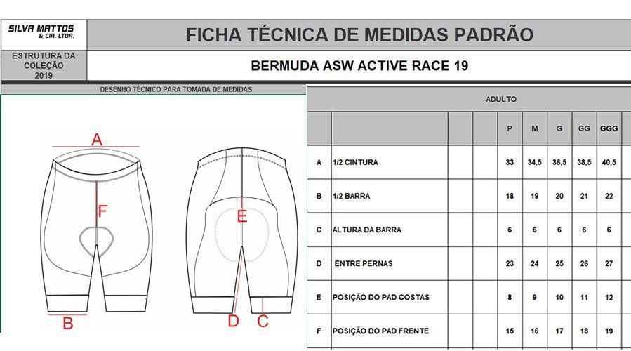 BERMUDA ASW ACTIVE RACE PRETA 19