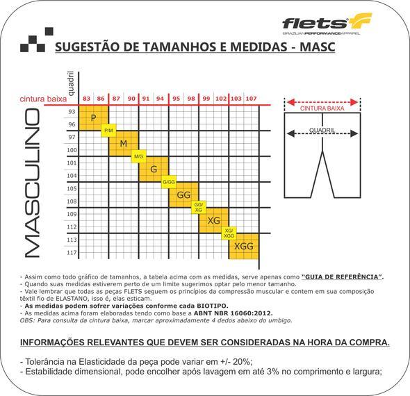 BERMUDA FLETS MASCULINA X3X COMPRESSION PRETA