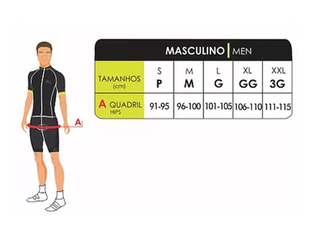 BERMUDA MAURO RIBEIRO MASCULINA SYSTEM DAMPING 2.0 CICLISMO