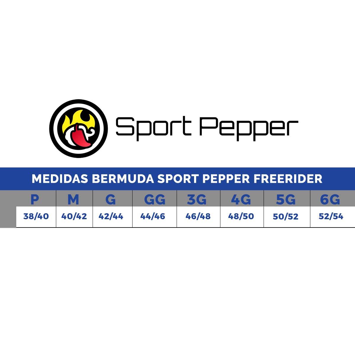 Bermuda Sport Pepper Freerider Com Forro Ciclismo Preta
