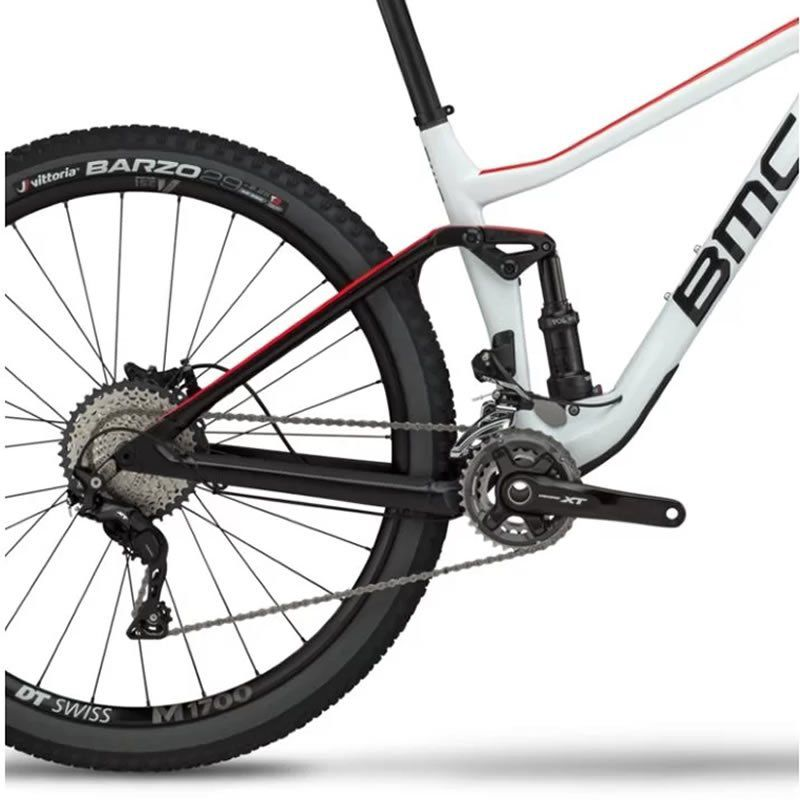 BICICLETA BMC AGONIST 02 ONE ARO 29 FULL SUSPENSION XT BRANCA E VERMELHA