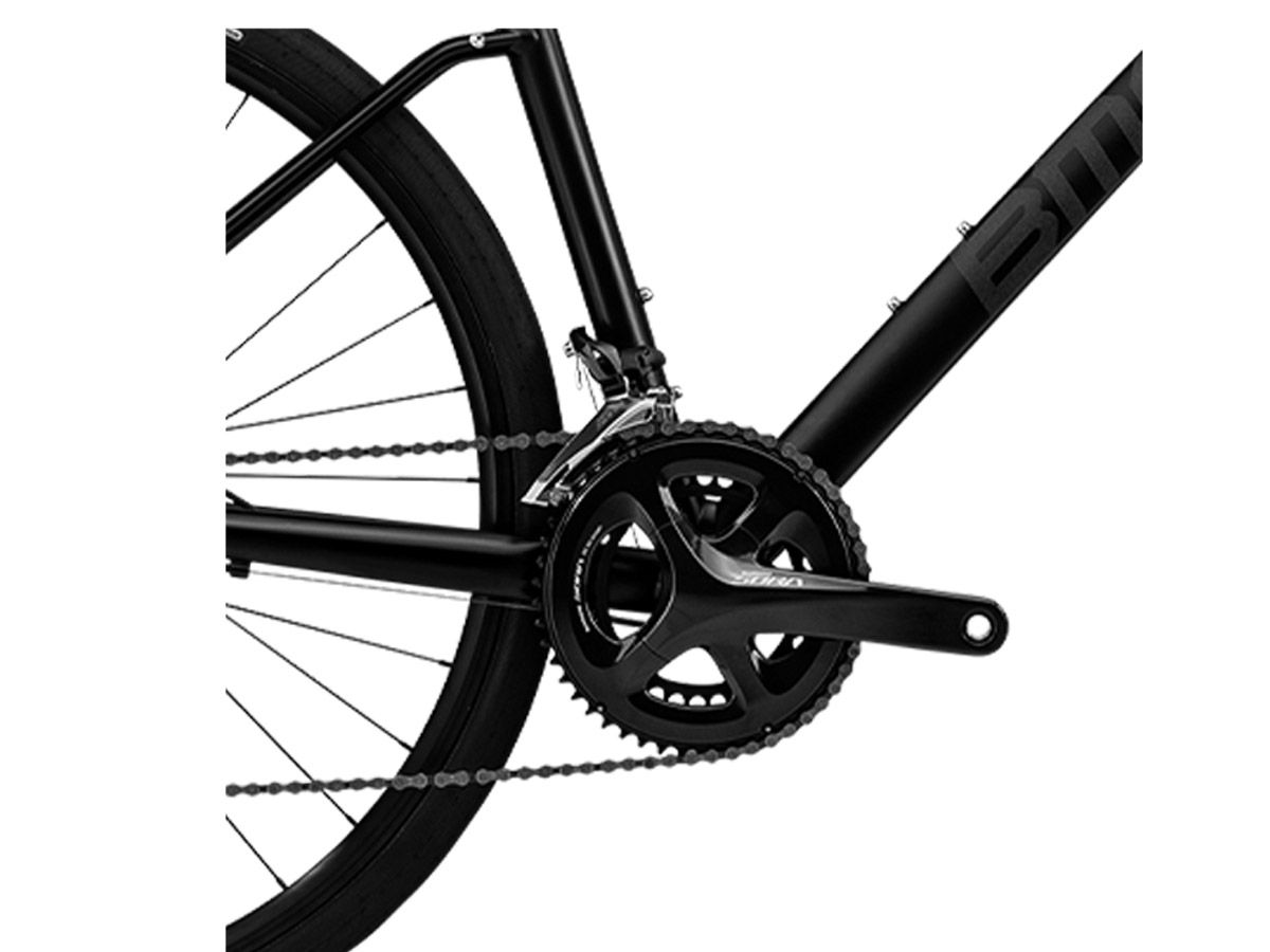 BICICLETA BMC ALPENCHALLENGE 02 THREE SORA 18V URBANA PRETA FOSCA FREIO A DISCO HIDRAULICO 2020
