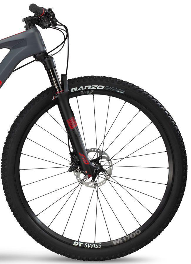 BICICLETA BMC TEAMELITE 02 ONE CARBONO ARO 29 SRAM GX EAGLE 12V CINZA VERMELHA E PRETA 2019