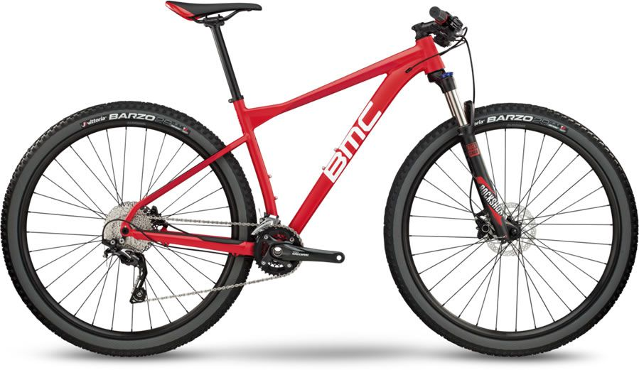 BICICLETA BMC TEAMELITE 03 THREE ARO 29 DEORE 20V VERMELHA TEAM RED