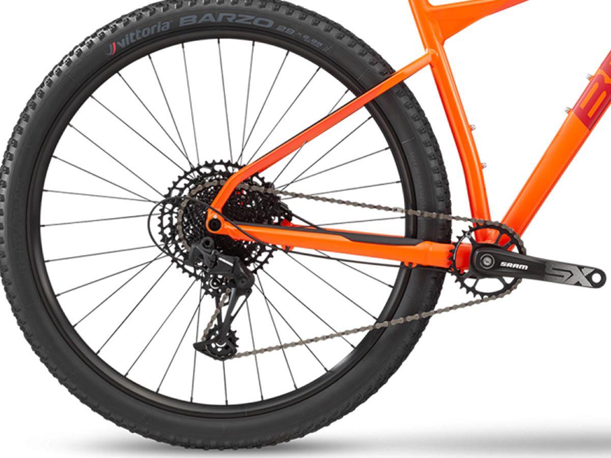 BICICLETA BMC TEAMELITE 03 TWO ARO 29 SRAM SX EAGLE 12V LARANJA E VERMELHA 20