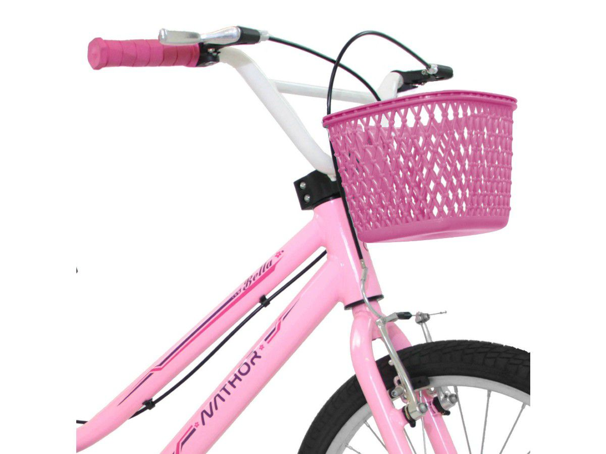 BICICLETA NATHOR ARO 20 BELLA NEW 02 ROSA