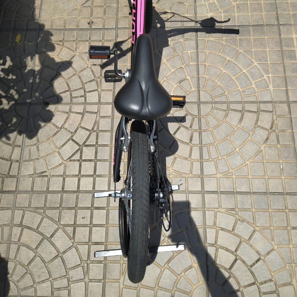 BICICLETA NATHOR ARO 20 HARMONY PRETA E PINK COM CAMBIO 6V