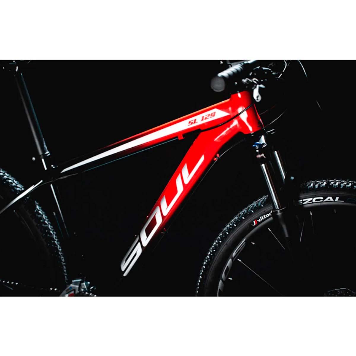 Bicicleta Soul SL 129 Aro 29 24V Shimano Tourney Degrade Vermelha e Preta 21