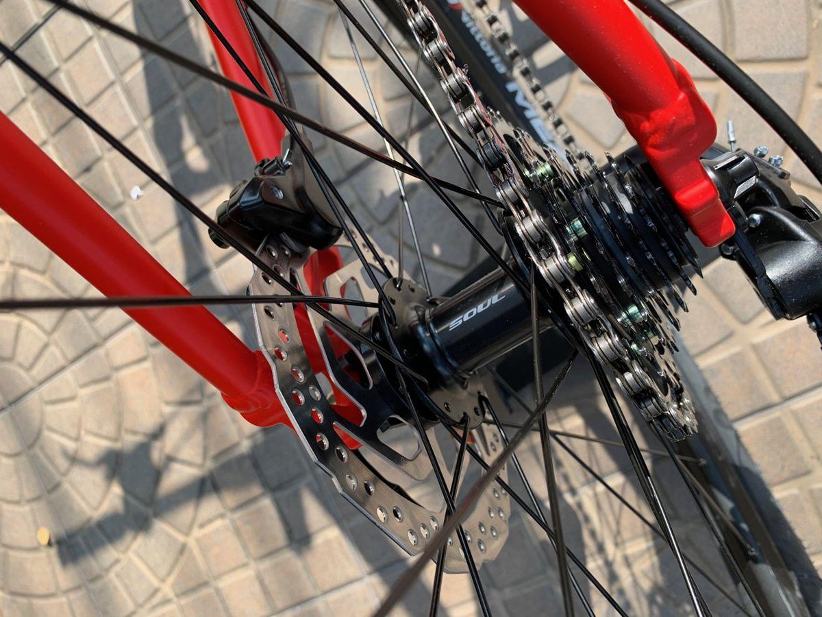 BICICLETA SOUL SL 129 ARO 29 TOURNEY 21V FREIO A DISCO HIDRAULICO VERMELHA