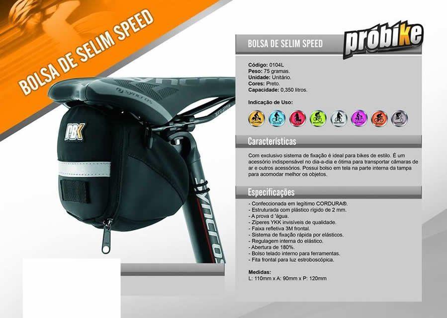 BOLSA DE SELIM SPEED PROBIKE - 0104L