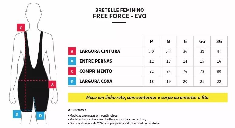 BRETELLE FREEFORCE FEMININO STAGE PRETO E ROSA