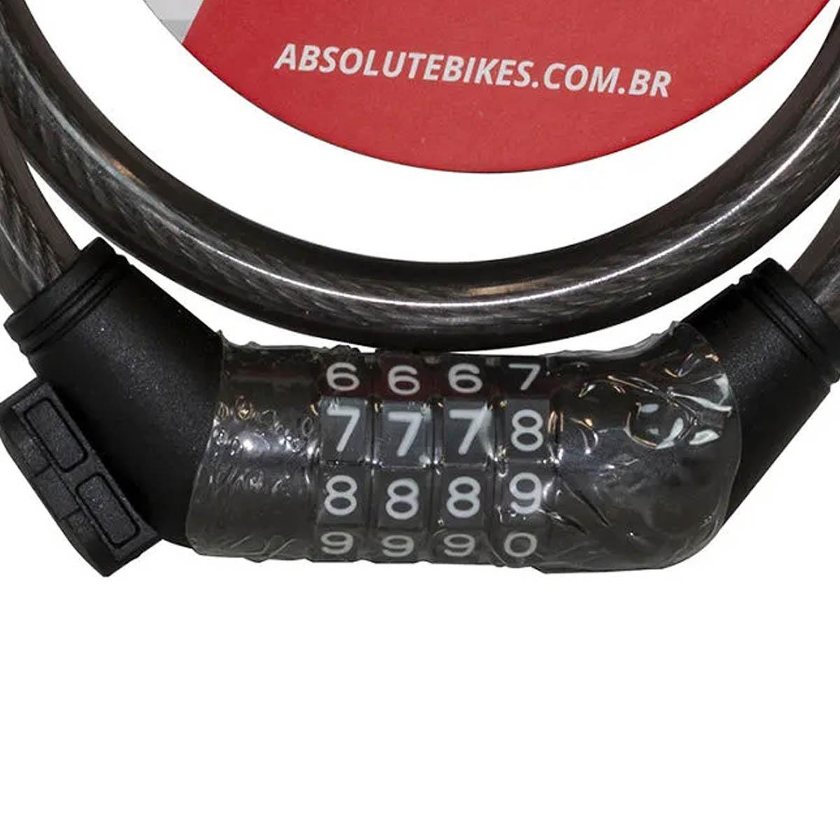 CADEADO ABSOLUTE ESPIRAL COM SEGREDO 80CMX12MM PRETO - ISP