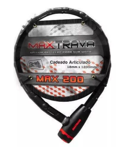 CADEADO ARTICULADO 18X1200MM FUME Ref: MXTRA0006 Marca: MAXTRAVA BIKE STEP CARRO